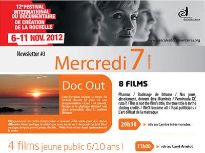 illustration de La Rochelle : soirée Doc Out et plus aux Escales Documentaires, mercredi 7 novembre