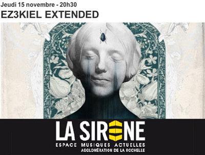 illustration de La Rochelle : musique et images, l'événement EZ3kiel Extended à La Sirène !!! Jeudi 15 novembre 2012
