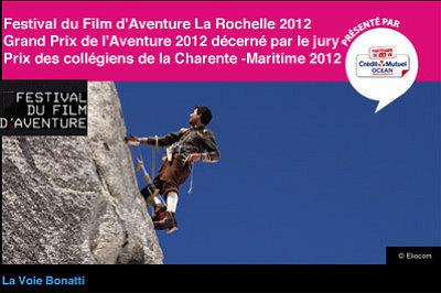 illustration de La Rochelle : le palmarès du Festival du film d'aventure 2012, et séance à Jonzac, dim. 18 nov. à 17h30
