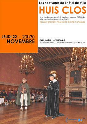 illustration de La Rochelle : huis clos à l'Hôtel de Ville, pages d'histoire théâtralisées, jeudi 22 novembre à 20h30