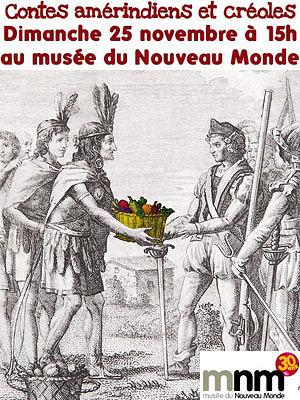 illustration de La Rochelle : contes amérindiens et créoles au musée du Nouveau Monde, dimanche 25 novembre à 15h.
