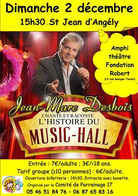 illustration de Charente-Maritime - Saint-Jean d'Angély : Jean-Marc Desbois au profit du Comité de Parrainage 17, dimanche 2 décembre à 15h30