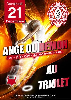 illustration de Clubbing La Rochelle : soirée ange ou démon, vendredi 21 décembre 2012