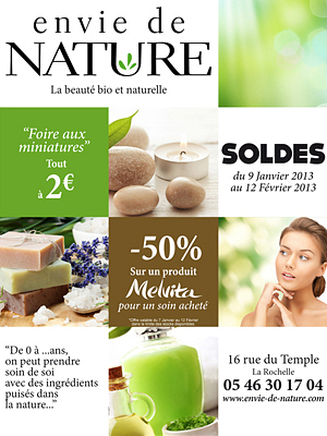 illustration de La Rochelle : soldes beauté bio et naturelle chez Envie de Nature !