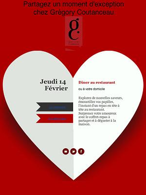 illustration de La Rochelle : la Saint Valentin au restaurant ou chez soi avec Grégory Coutanceau