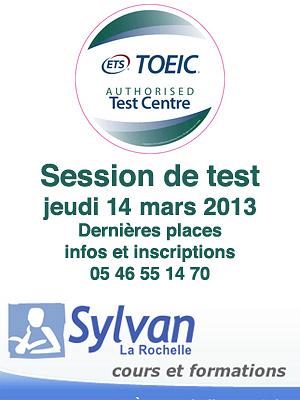 illustration de La Rochelle : test TOEIC, jeudi 14 mars 2013 à l'Espace Sylvan