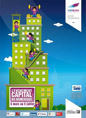 illustration de La Rochelle : levée de fonds, 1ère journée Événement Capital du numérique, mardi 5 mars 2013