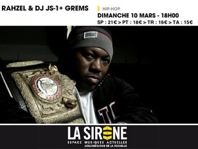 illustration de La Rochelle : hip-hop new-yorkais avec Rahazel et DJ JS-1 ; Grems en prime à La Sirène, dimanche 10 mars à 18h