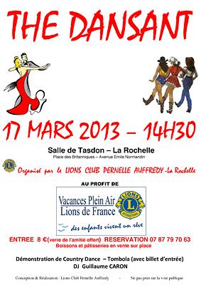 illustration de La Rochelle : Thé dansant du Lions Club au profit de l'enfance défavorisée, dimanche 17 mars 2013