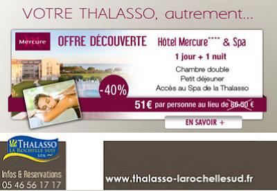 illustration de La Rochelle - Charente-Maritime : Mercure & Spa, promo découverte à Châtelaillon-Plage jusqu'au 27 avril 2013