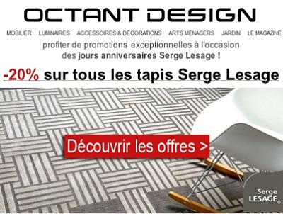 illustration de La Rochelle : promotion sur les tapis Serge Lesage jusqu'au 13 avril 2013