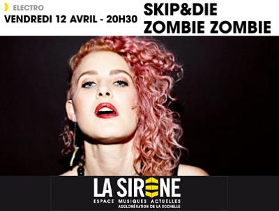 illustration de Electro à La Rochelle : Skip&Die - Zombie Zombie à La Sirène, vendredi 12 avril