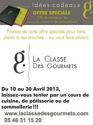 La rochelle cours de cuisine p tisserie et sommellerie offre sp ciale 20 jusqu 39 au 30 avril - Cours de cuisine la rochelle ...