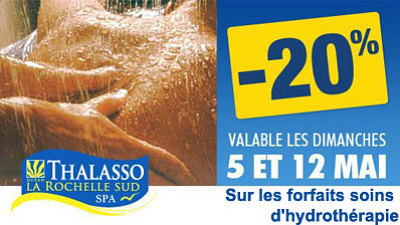 illustration de Châtelaillon - La Rochelle sud : offre promo sur les forfaits soins d'hydrothérapie, 12 mai 2013