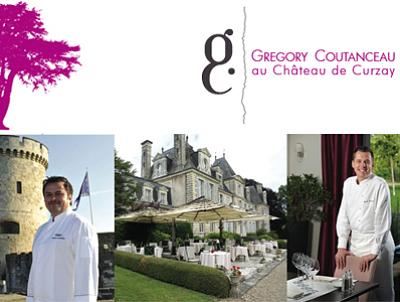 illustration de Région de Poitiers : dîner d'exception à quatre mains par David Fricaud  et Grégory Coutanceau  au Château de Curzay, jeudi 27 juin 2013