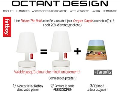 illustration de Objet design - Fatboy : offre spéciale, réduction 20% sur la lampe Edison The Petit samedi 29 et dimanche 30 juin 2013