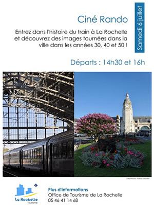 illustration de Festival du film de La Rochelle : ciné-rando, histoires de train avec l'Office du tourisme, samedi 6 juillet 2013