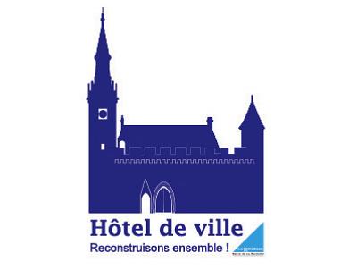 illustration de Hôtel de Ville de La Rochelle : après l'incendie, ouverture d'un compte bancaire pour reconstruire ensemble