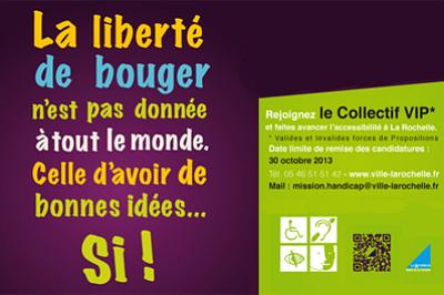 illustration de La Rochelle accessibilité - handicap : création du collectif citoyen VIP, appel à participation
