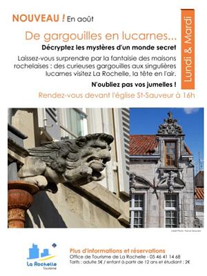 illustration de La Rochelle : de gargouilles en lucarnes, nouvelle visite de l'office de tourisme, été 2013