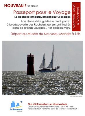 illustration de Passeport pour le voyage à La Rochelle : visite thématique avec l'office de tourisme, août 2013