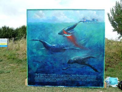 illustration de Ivres en mer : à Port des Barques, Gildas Flahault a rendu hommage à Paul Watson