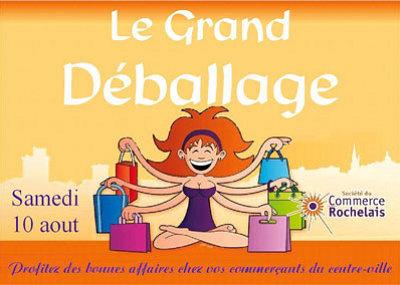 illustration de La Rochelle : grand déballage des commerçants du centre-ville, samedi 10 août 2013