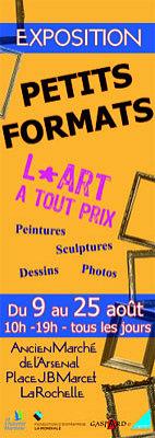 illustration de Oeuvres d'art à La Rochelle : les petits formats de l'été, expo-vente avec Gaspard 17, août 2012
