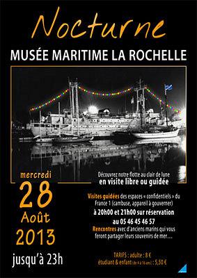 illustration de Musée maritime de La Rochelle : nocturne jusqu'à 23h, mercredi 28 août 2013