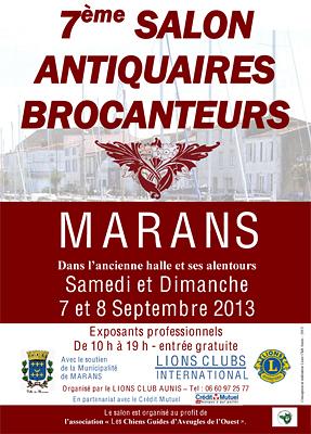 illustration de Avec le Lions Club La Rochelle Aunis : salon des antiquaires à Marans sam. 7 et dim. 8 septembre 2013