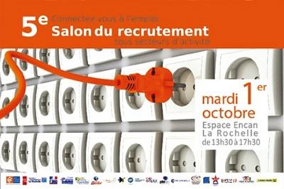 illustration de Recherche d'emploi à La Rochelle : 5e salon du recrutement, mardi 1er octobre 2013 à l'Encan