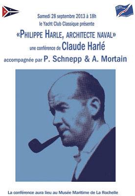 illustration de La Rochelle : une régate classique et une conférence sur Philippe Harlé, architecte naval, samedi 28 septembre 2013