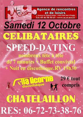 illustration de La Rochelle - Châtelaillon : soirée speed dating et discothèque pour les célibataires, samedi 12 octobre 2013