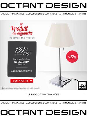 illustration de La Rochelle - France : luminaire design Luceplan, offre du dimanche sur octantdesign.com
