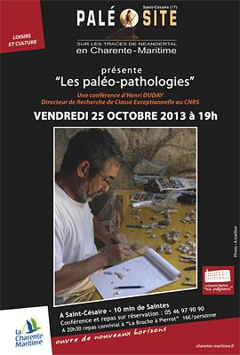 illustration de Sud Charente-Maritime : conférence au Paléosite le 25 octobre et exposition jusqu'au 11 novembre 2013