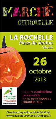 illustration de La Rochelle : marché des producteurs, animations et soupe à la citrouille, samedi 26 octobre 2013