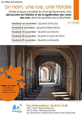 illustration de Office de tourisme de La Rochelle : les visites du vendredi, novembre 2013