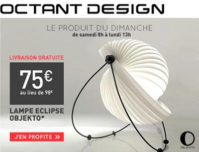 illustration de La Rochelle - France : Noël design, la lampe Eclipse d'Objekto est en promo, profitez-en !
