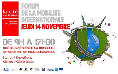illustration de Le Québec à La Rochelle : rendez-vous au forum de la mobilité internationale, jeudi 14 novembre 2013