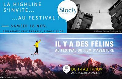 illustration de La Rochelle : highline au dessus du bassin des chalutiers au festival du film d'aventure, samedi 16 novembre 11h-16h