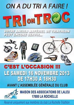 illustration de La Rochelle Triathlon : AG et Tri-on-Troc, samedi 16 novembre 2013