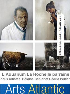 illustration de L'Aquarium La Rochelle parraine Héloïse Bénier et Cédric Peltier au salon Arts Atlantic 15-17 novembre 2013