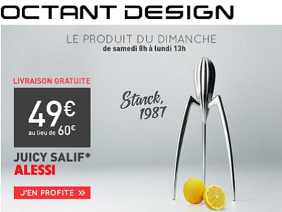 illustration de La Rochelle - France : design, objet culte : le presse-citron d'Alessi par Starck en promo chez Octant Design !
