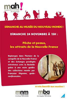 illustration de Un dimanche au musée du Nouveau-Monde à La Rochelle : les attraits de la nouvelle France, dimanche 24 nov. 2013 à 15h