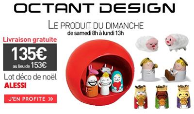 illustration de La Rochelle - France : déco de Noël design Alessi, profitez de l'offre spéciale octantdesign.com !