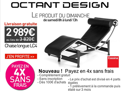 illustration de La Rochelle - France : super promo design sur la chaise longue LC4 - Le Corbusier