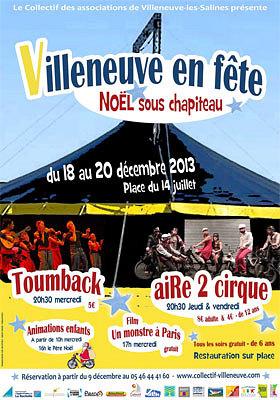 illustration de La Rochelle - Villeneuve en fête : Noël sous chapiteau, animations et spectacles 18, 19 et 20 décembre 2013