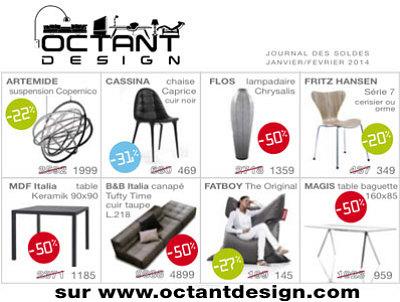 illustration de La Rochelle design : soldes rue du Minage et sur octantdesign.com