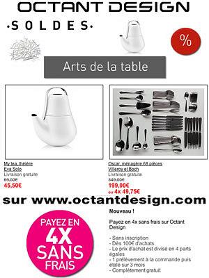 illustration de La Rochelle arts de la table : soldes rue du Minage et sur internet