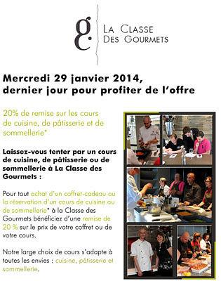 illustration de Cours de cuisine à La Rochelle : -20% de réduction, dernier jour mercredi 29 janvier 2014 !